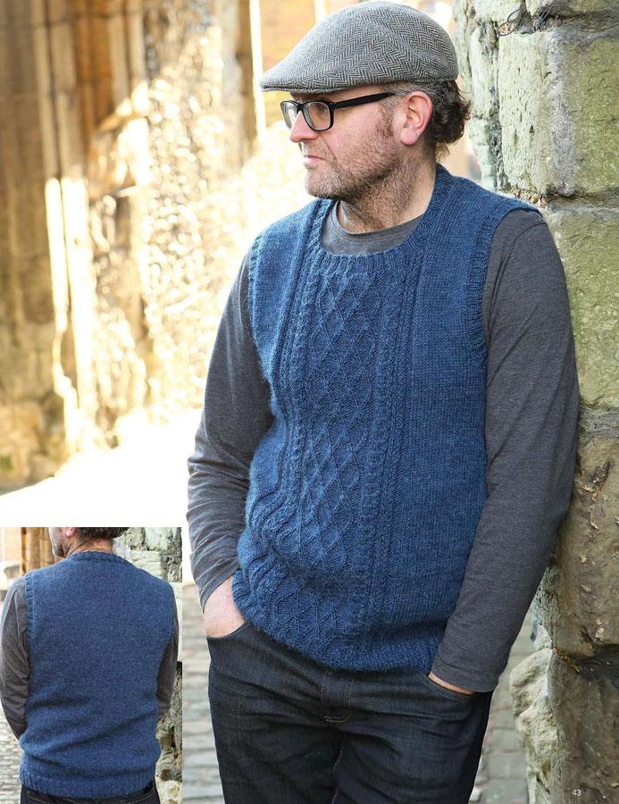 Mens Aran Vest Free Knitting Patterns