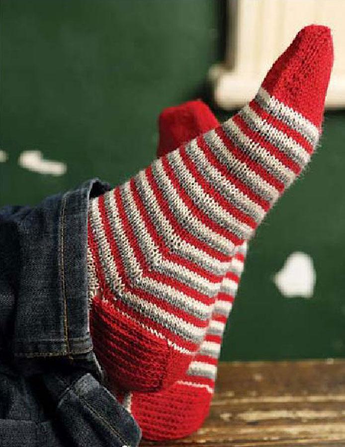 Mens Sock Knitting Pattern : Mens socks knitting pattern free