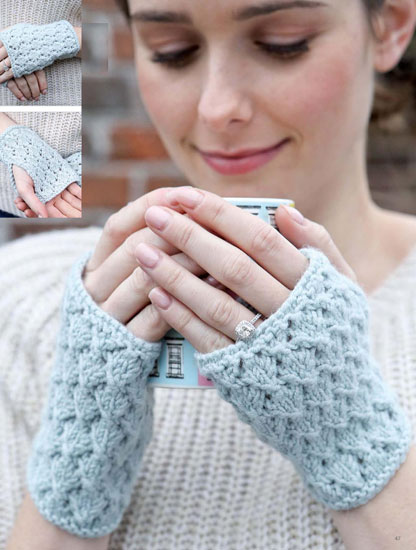 Wrist warmers knitting pattern