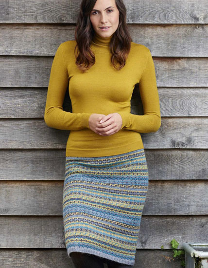 Fair Isle skirt knitting pattern