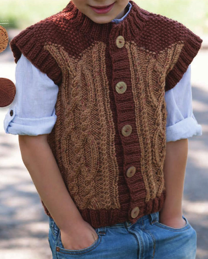 Boys vest knitting pattern