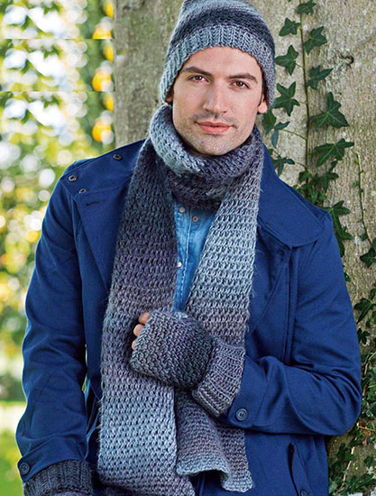 Knitting Patterns For Men s Hats And Scarves : Free Hats And Scarves Knitting And Crochet Patterns For Men