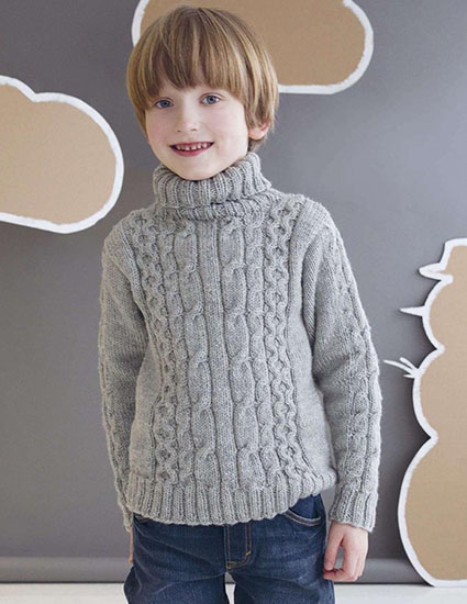 Knitted sweater for boys