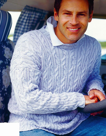 Man's sweater knitting pattern