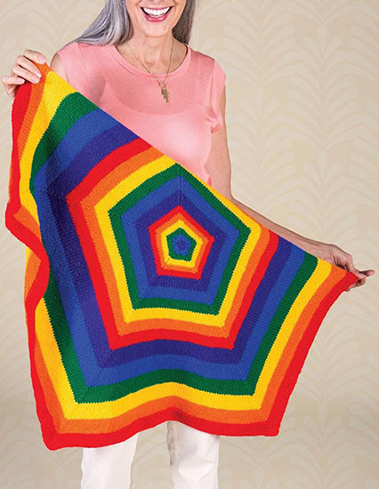 Pentagon blanket knitting pattern