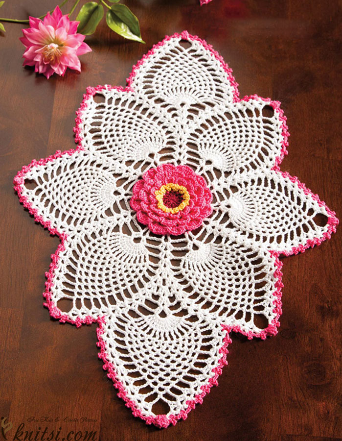 Oval doily crochet pattern