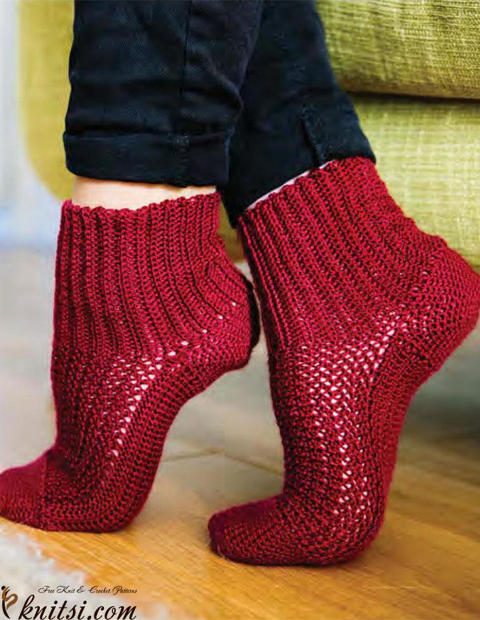 Free Crochet Patterns For Women s Socks : Womens socks crochet pattern free