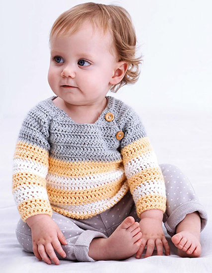 26658fd83f85 Craft Passions  Baby pullover.  free   crochet link here