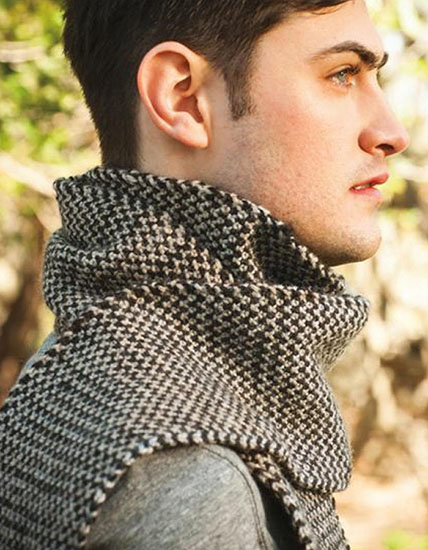 Men's scarf knitting pattern