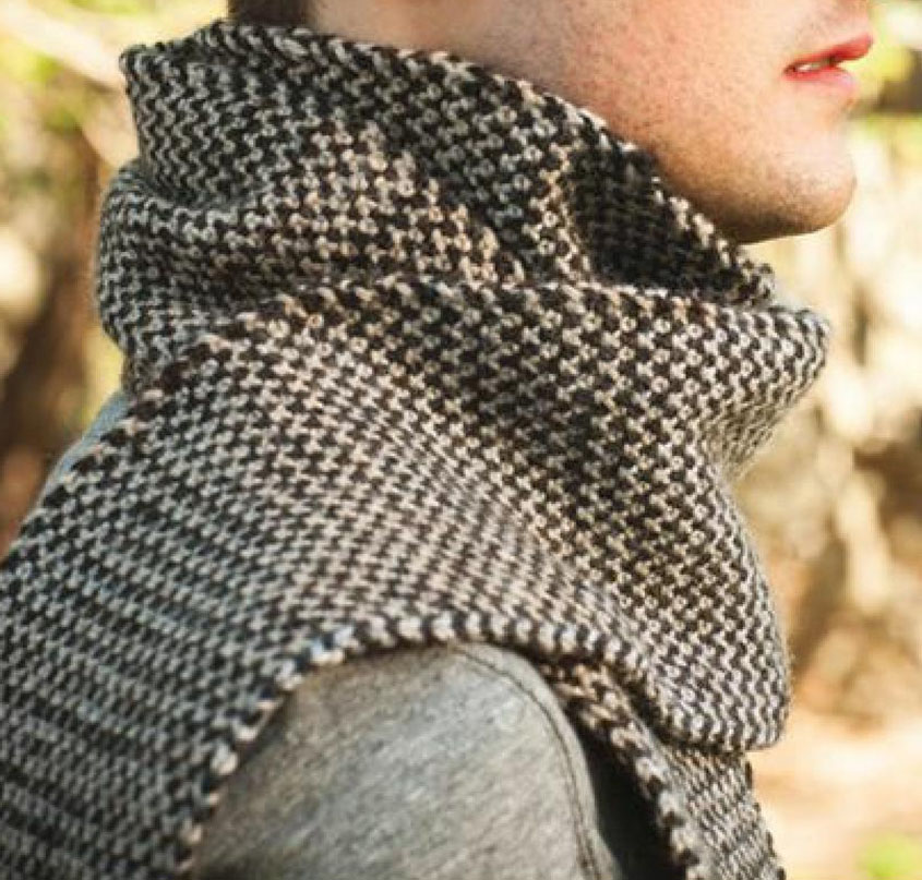 Two Color Knitting Pattern : Knit two color scarf pattern