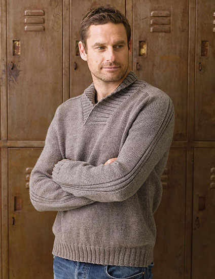 Men's jumper knitting pattern