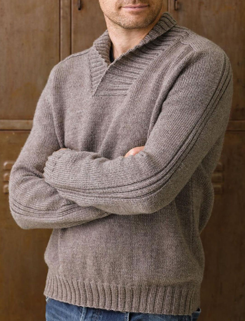 Knitting Patterns For Cardigan With Shawl Collar : Shawl collar jumper knitting pattern