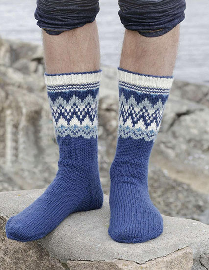 Men's socks knitting pattern