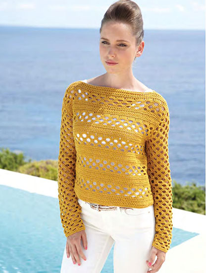 Free Crochet Patterns Summer Sweaters : Free Pullovers Crochet Patterns