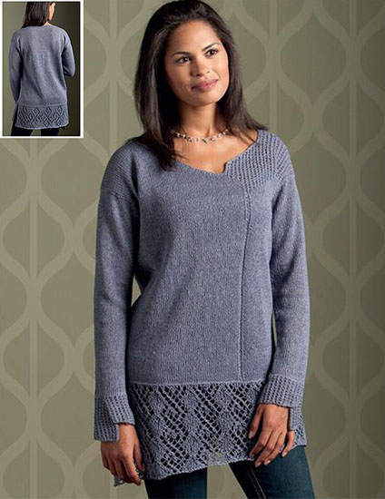 Women's tunic-length pullover