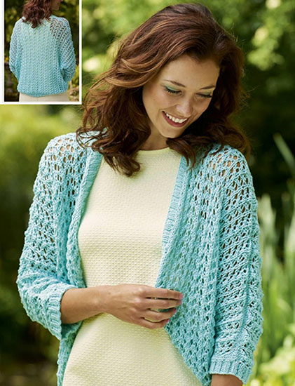 Free Knitting Pattern For Shrug : Free Bolero Knitting Patterns