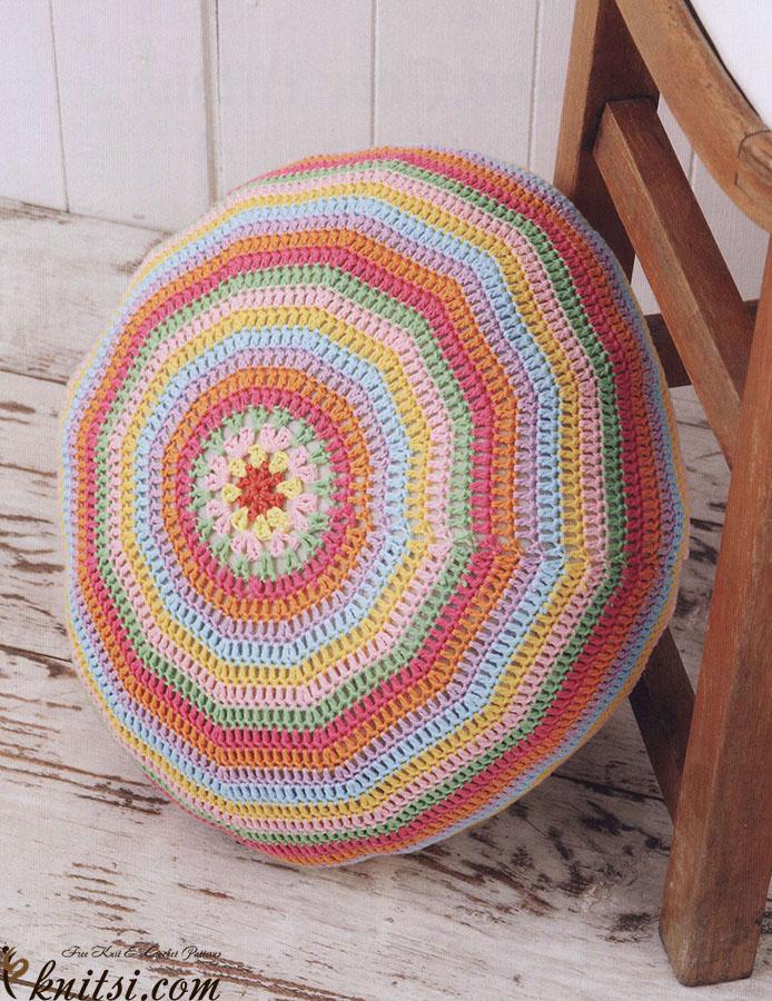 Floor Pillow Crochet Pattern : Circular floor pillow crochet pattern