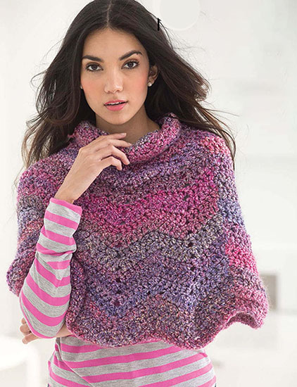 Women's poncho crochet pattern