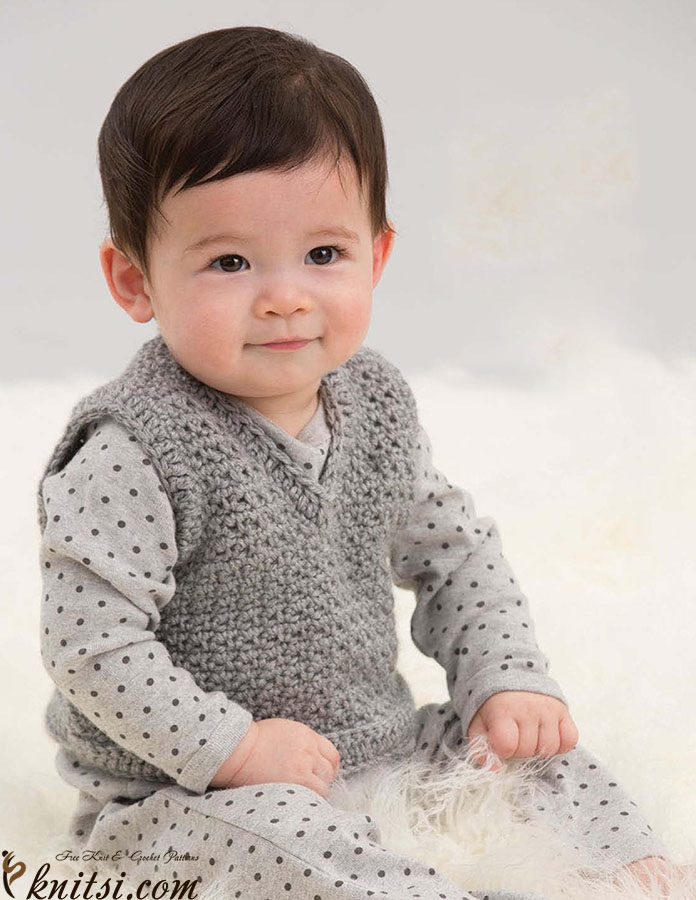 Free Crochet Vest Pattern For Child : Child vest crochet pattern