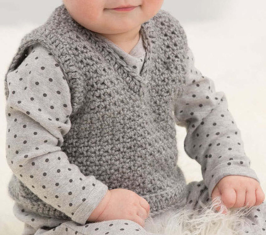 Crochet Patterns For Childrens Vests : Child vest crochet pattern