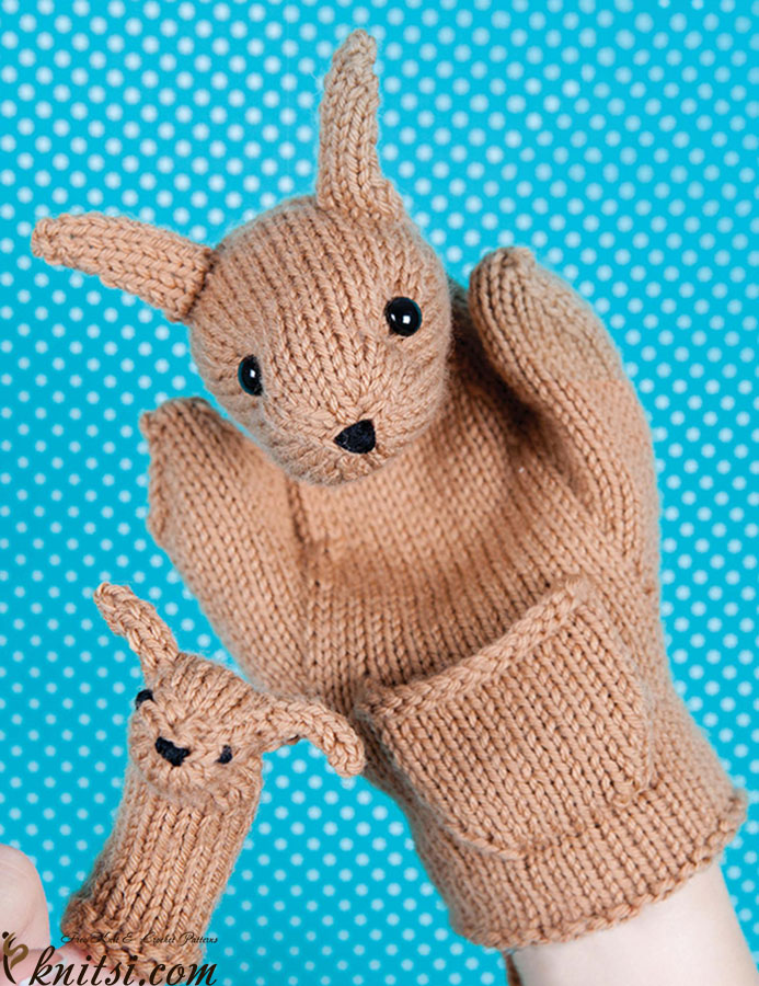 Easy Finger Puppet Knitting Pattern : Hand puppets knitting patterns