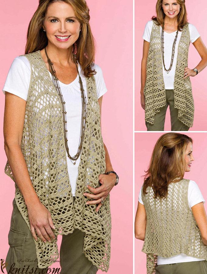 Draped Crochet Vest Pattern