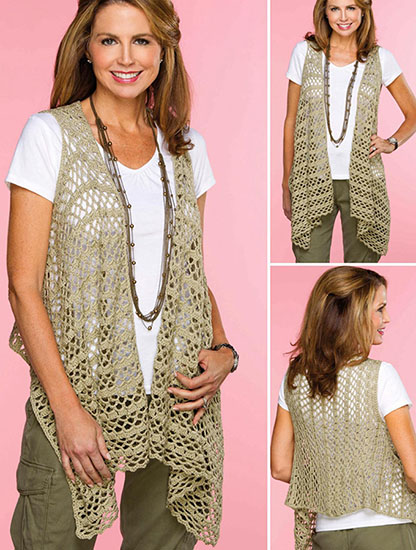 Women's vest crochet pattern