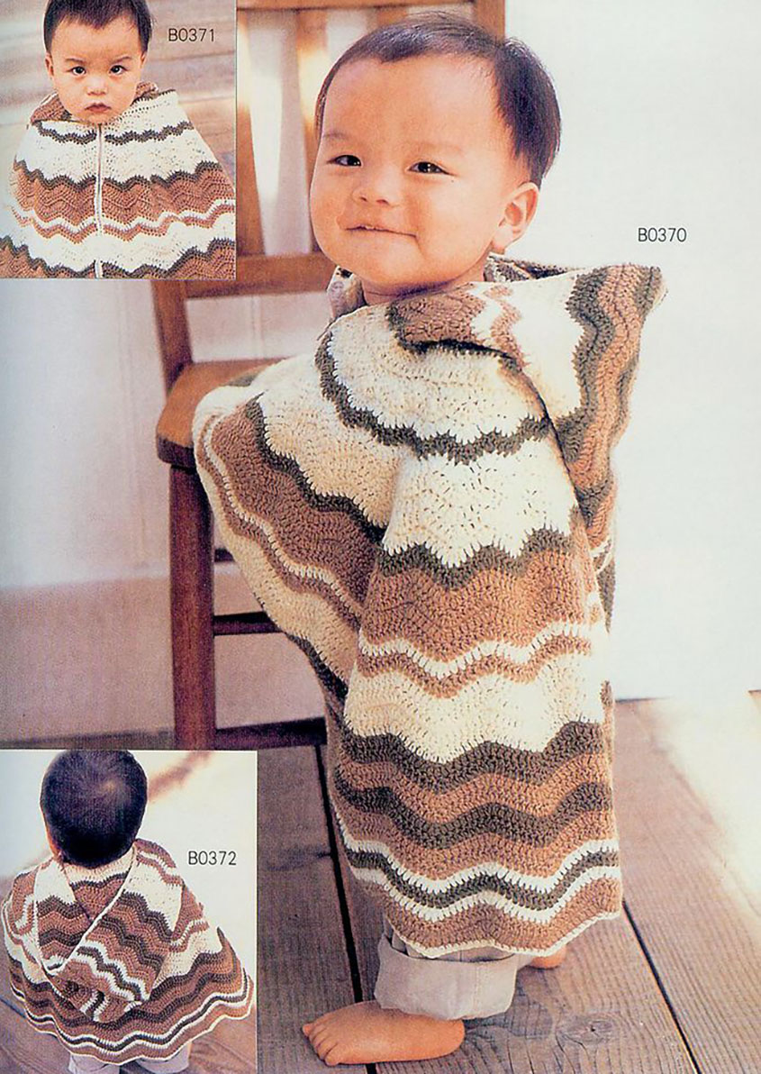 Crochet hooded poncho for baby baby poncho crochet pattern bankloansurffo Choice Image