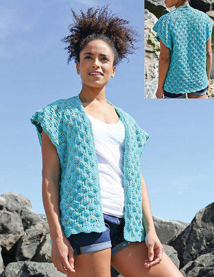 Women's cover-up knitting pattern