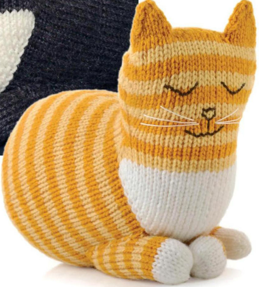 Cat Design Knitting Pattern : Cat knitting pattern free