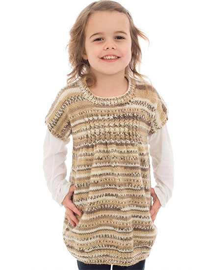 Girl's tunic knitting pattern