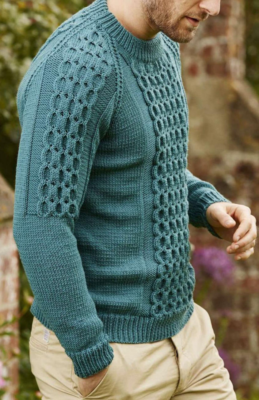 Cabled raglan sweater for men mens sweater knitting pattern bankloansurffo Image collections