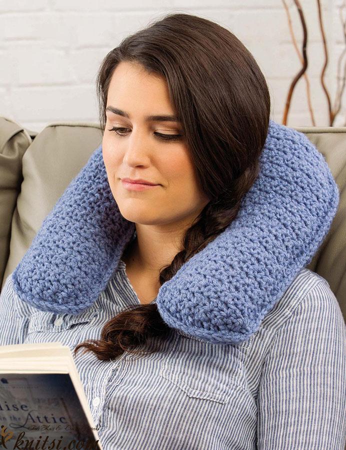 Neck Support Pillow Crochet Pattern