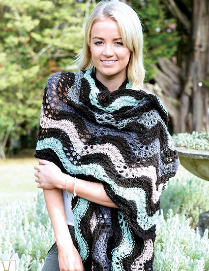 Wrap-Scarf knitting pattern free