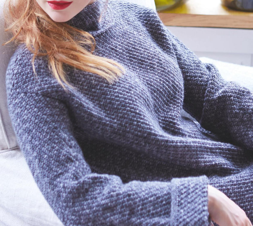 Women's sweater knitting pattern