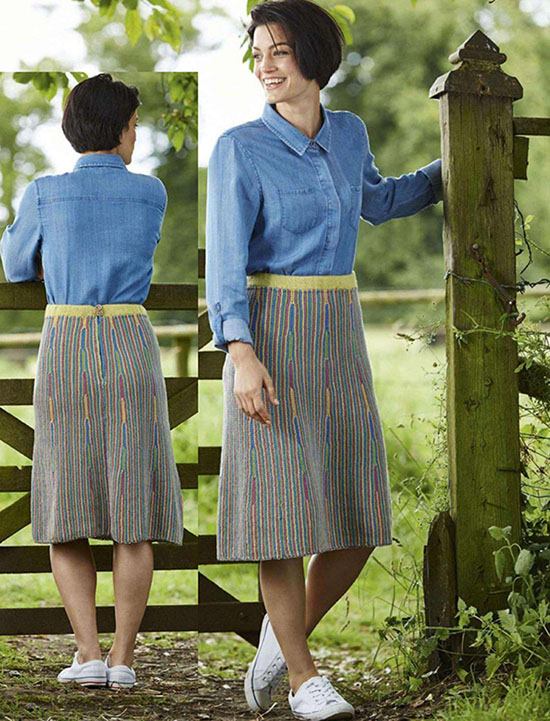 Women's skirt knitting pattern