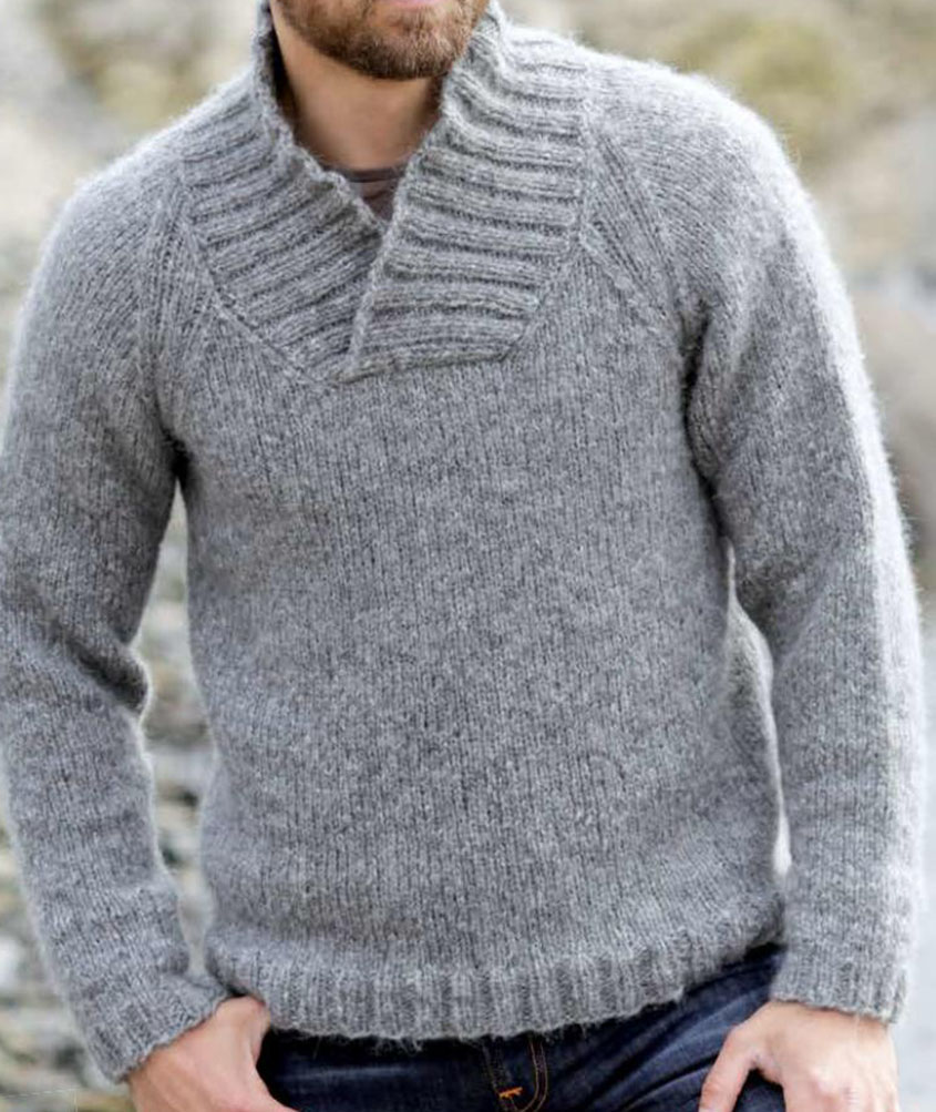 Mens raglan jumper knitting pattern