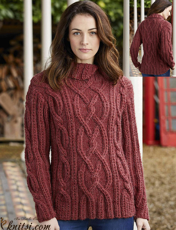Jumper Patterns Knitting : Cable knit jumper pattern