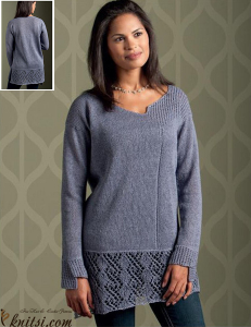Tunic-length pullover
