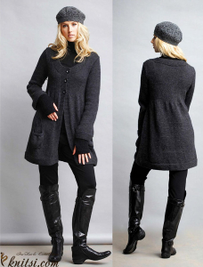 Coat  knitting pattern