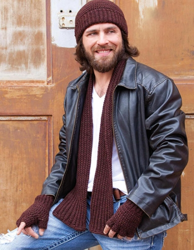 Knitting Pattern For Mens Scarf And Hat : Free Knitting and Crochet Patterns