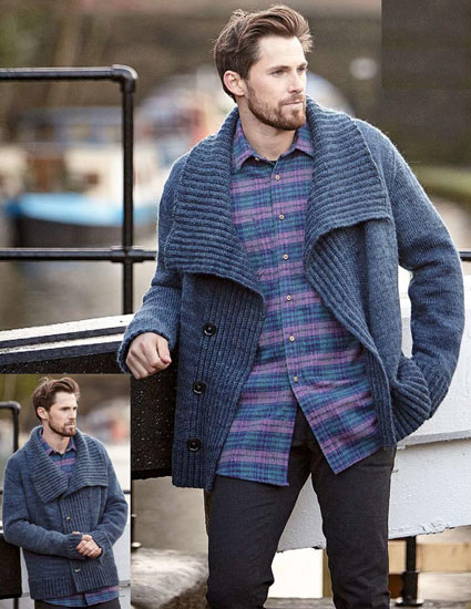 Men's jacket knitting pattern