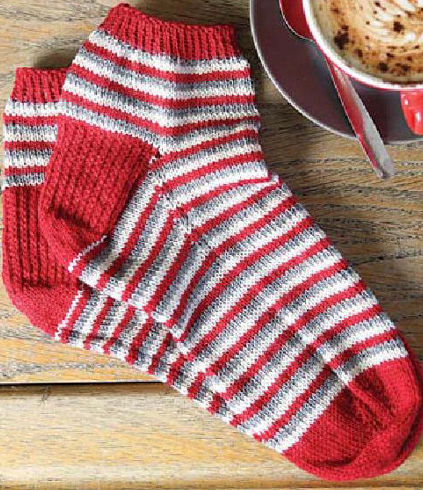 Men\'s socks knitting pattern free