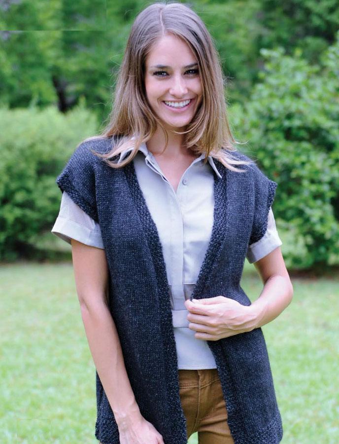 Women S Vest Knitting Pattern Free