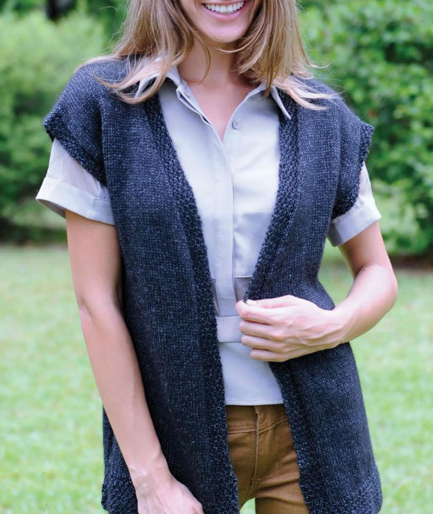 Women S Vest Knitting Pattern Free