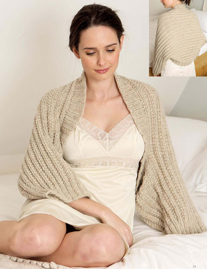 Women's cocoon knitting pattern