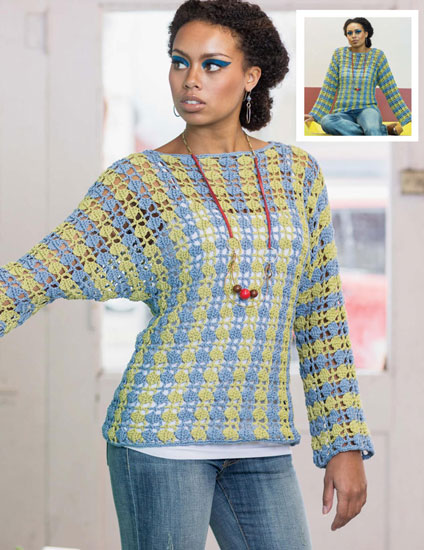 Women's sweater crochet pattern free