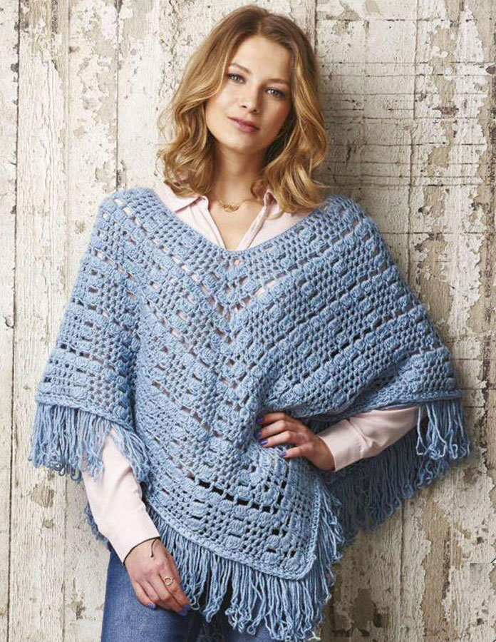 Womens Poncho Crochet Pattern