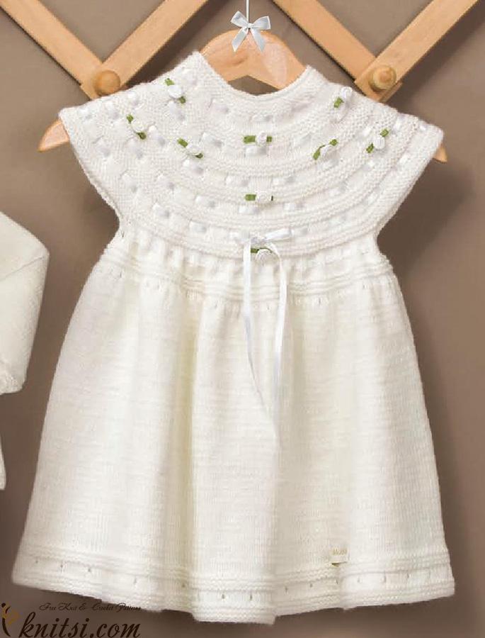 Baby Dress Knitting Pattern Free