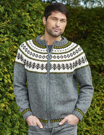 Men's cardigan knitting pattern
